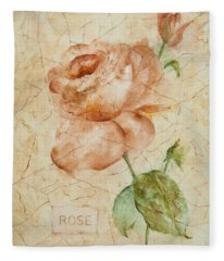 Antique Rose Fleece Blanket