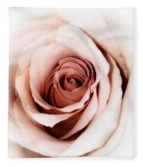 Antique Rose Fleece Blanket