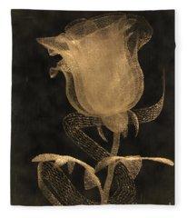 Antique Rose Of Glass Fleece Blanket