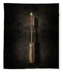 Antique Soldering Iron On Black  Fleece Blanket
