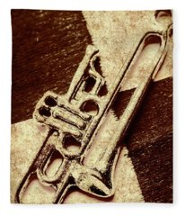 Antique Trumpet Club Fleece Blanket