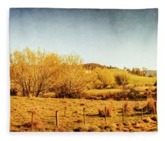 Antique Weathered Countryside Fleece Blanket