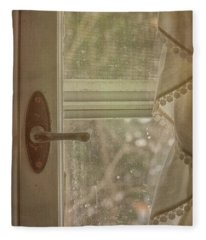 Antique Window Fleece Blanket