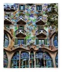 Antoni Gaudi's Casa Batllo Barcelona Spain  Fleece Blanket