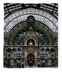 Antwerp Train Terminal Fleece Blanket
