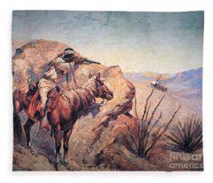 Apache Ambush Fleece Blanket
