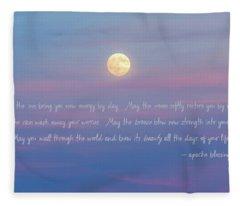 Apache Blessing Harvest Moon 2016 Fleece Blanket