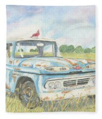 Apache Out To Pasture Fleece Blanket