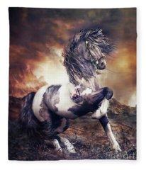 Apache War Horse Fleece Blanket