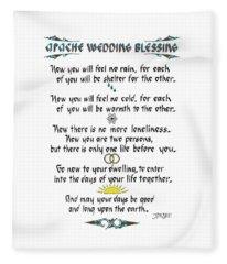 Apache Wedding Blessing Fleece Blanket