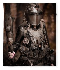 Apocalypse Warrior Fleece Blanket