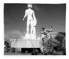 Apollo At Fontaine Du Soleil, Nizza, France Fleece Blanket