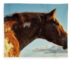Appaloosa Mare Fleece Blanket