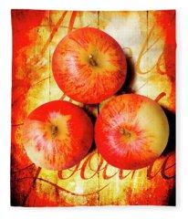 Apple Barn Artwork Fleece Blanket