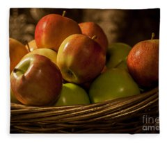 Apple Basket Fleece Blanket