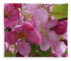 Apple Blossoms Fleece Blanket