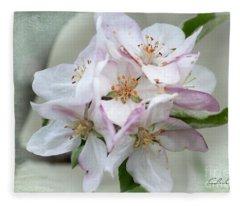 Apple Blossoms From My Hepburn Garden Fleece Blanket