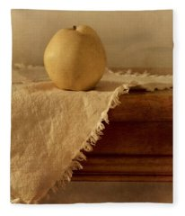 Apple Pear On A Table Fleece Blanket