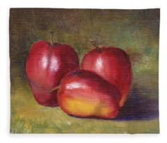 Apple Still Life Fleece Blanket