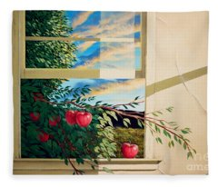 Apple Tree Overflowing Fleece Blanket