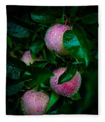 Apples After The Rain Fleece Blanket