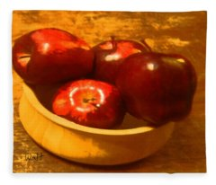 Apples In A Bowl Fleece Blanket