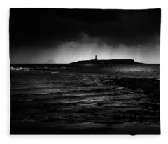 Approaching Storm, Ailsa Craig And Pladda Island Fleece Blanket