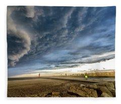 Approaching Storm Fleece Blanket