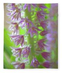 April Flowers Fleece Blanket