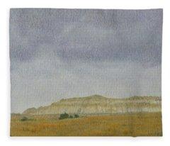 April In The Badlands Fleece Blanket