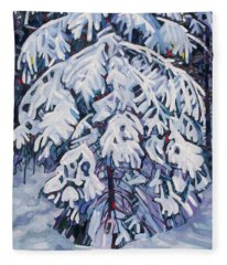 April Snow Fleece Blanket