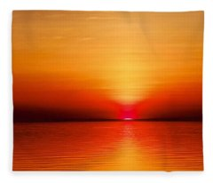 April Sunset Fleece Blanket