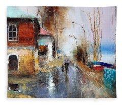 April. The River Volga Fleece Blanket