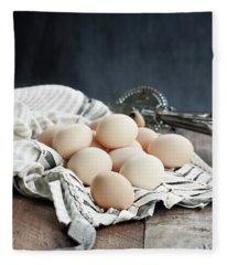 Apron And Eggs Fleece Blanket