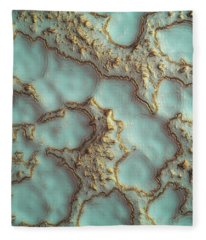 Aqua Coral Reef Abstract Fleece Blanket