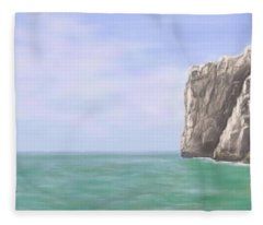 Aqua Sea Fleece Blanket