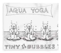 Aqua Yoga Fleece Blanket