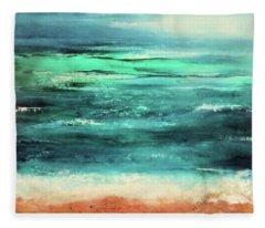 Aquamarine  Fleece Blanket