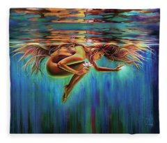 Aquarian Rebirth II Divine Feminine Consciousness Awakening Fleece Blanket
