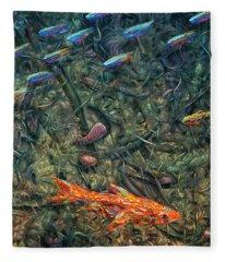 Aquarium 2 Fleece Blanket
