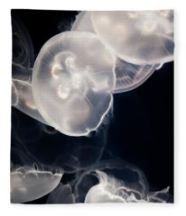 Aquarium Of The Pacific Jumping Jellies Fleece Blanket