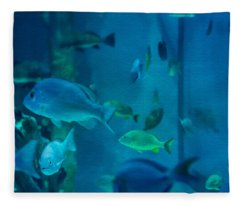 Aquarium View Fleece Blanket