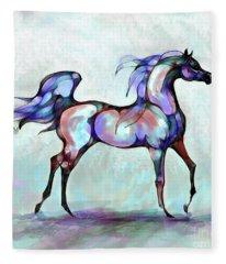 Arabian Horse Overlook Fleece Blanket