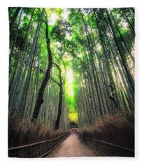 Arashiyama In Kyoto, Japan Fleece Blanket