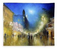 Arbat Night Lights Fleece Blanket