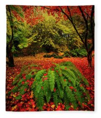 Arboretum Primary Colors Fleece Blanket