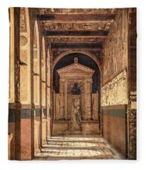 Paris, France - Arcade - L'ecole Des Beaux-arts  Fleece Blanket