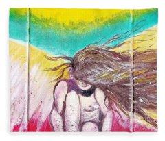 Arch Angel Michael Fleece Blanket