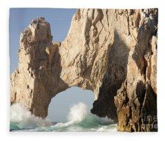 arch at Lands End in Cabo San Lucas Mexico Fleece Blanket