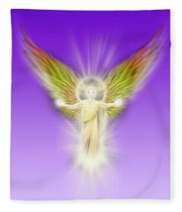 Archangel Gabriel - Pastel Fleece Blanket